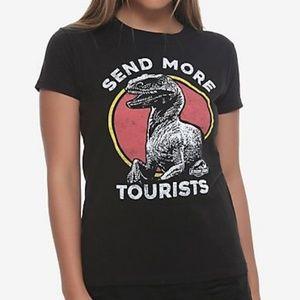 Jurassic World SEND MORE TOURISTS t-shirt